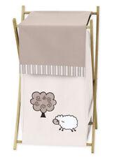 Sweet Jojo Kids Baby Clothes Laundry Hamper for Lamb Sheep Farm Animal Bedding