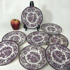 Set of 8 Royal Staffordshire Tonquin Purple Bread Plate