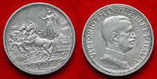 MONETA MONNAIE COIN REGNO ITALIA RE VITTORIO EMANUELE III LIRE 2 ARGENTO 1916 #6