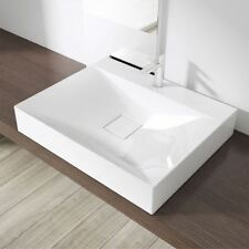 Durovin Bathrooms White 60cm x 48cm Counter Top Wall Hung Mount Basin