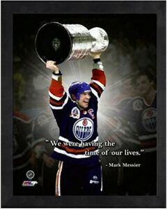"""Mark Messier Edmonton Oilers NHL Pro Quotes Photo (Size: 12"""" x 15"""") Framed"""