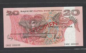 Papua New Guinea 20 Kina (2002) P10s SPECIMEN UNC