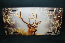 DEER CAMOUFLAGE LICENSE PLATE CAMOUFLAGE BACKGROUND LICENSE PLATE