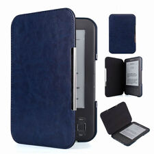 TY Deep Blue Slim Leather Protector Pouch Case Cover For Amazon Kindle 3