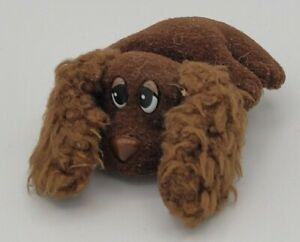 Vintage Pound Puppies Brown Lab Curly Ears Dog Mini Plush 1995 Galoob Chocolate