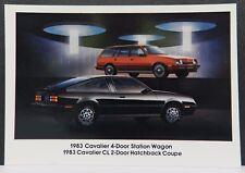 CAVALIER CL HATCHBACK 83 COUPE USA 1 83 PROMO CHEVY DEALER DEALERSHIP POSTCARD