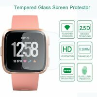 9H Hard HD Clear Tempered Glass Screen Protector for Fitbit Versa Smart Watch US