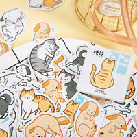 45pcs Friends Cats Dogs Stationery Stickers DIY Diary Album Gift Labels De Rf