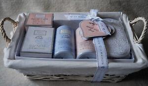 BNWT Baylis & Harding LaMaison Linen Rose & Cotton Pamper Basket Gift 5 PCS Set