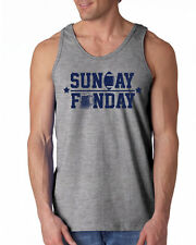 239 Sunday Funday Tank Top football party funny tailgating beer drunk retro cool