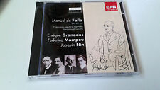 "MANUEL DE FALLA ENRIQUE GRANADOS MOMPOU NIN ""COMPOSERS IN PERSON"" CD 27 TRACKS"