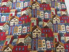 """TIMELESS TREASURES FABRIC HOUSES 1995 1 PC 4 YDS X 42"""" W"""