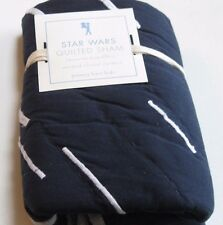 Pottery Barn Kids Star Wars Standard Quilted Sham Navy White Millennium New