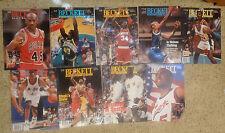 Lot of (9) Beckett Sports Card Price Guides Basketbal 1995-96 Jordan VGUC