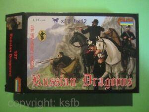 1:72 Strelets #107 Rußland Türkei Krieg russische Dragoner Kavallerie WKI etc.