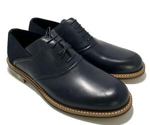 NEW, LOUIS VUITTON NAVY LEATHER LACE UP OXFORDS, 9 UK, $1250