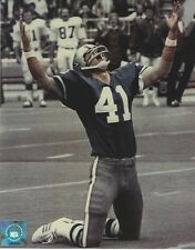 CHARLIE WATERS DALLAS COWBOYS 8 X 10 PHOTO WITH ULTRA PRO TOPLOADER
