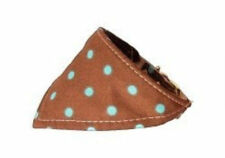 Mirage - Dog Puppy Bandana Collar - Made In USA - Brown with Dots