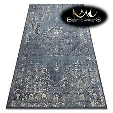 AMAZING NATURAL WOOL Rugs NAIN Rosette navy beige vintage exclusive best carpets