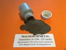 Magnesium Metal Powder 200 325 Mesh Granulation 16 Lab Grade 999 Pure