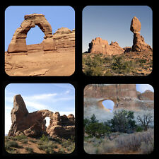 Arches National Park Rubber Coaster Set of 4