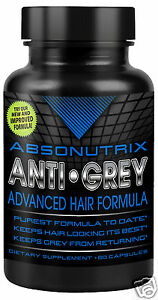 Absonutrix Anti Grey Hair Catalase Gray 60 caps helps prevent graying naturally