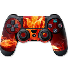 """Sony ps4 Controller Skin """"Burning Floral"""" Design Screen Protector Film Playstation"""