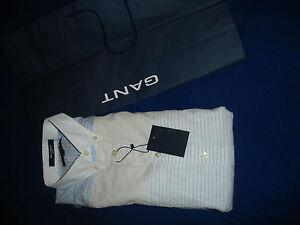 Gant Men's Fitted Shirt - Stripe - Size M  BNWT