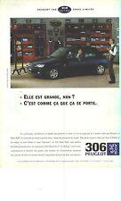PUBLICITE ADVERTISING  1995   PEUGEOT 306     EDEN PARK  série limitée