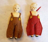 Pair of Vintage CELLULOID Dolls