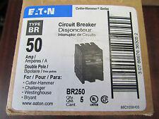 EATON CUTLER HAMMER BR250 50 AMP 2 Pole Circuit Breaker PRICE PER BREAKER