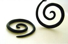PAIR OF BUFFALO HORN 8g (3MM) SPIRALS plugs body jewelry PLUG Gauges Expanders