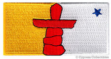 NUNAVUT FLAG embroidered iron-on PATCH CANADA EMBLEM Canadian Province ESKIMO