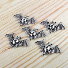 10pcs Tibetan Silver 3D Vampire Bat Connector Charms Pendant 45*30mm Wholesale