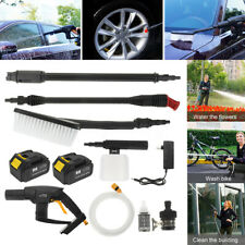 Rechargeable Cordless Car High Pressure Washer Hose Cleaner Sprayer Nozzle Set