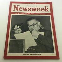 VTG Newsweek Magazine February 11 1946 - Ernest Bevin: Watchful UNO / Newsstand