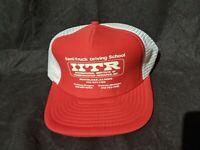 VTG RARE IITR Semi Truck Driving School Trucker Hat Red Illinois White Snapback