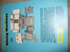 K O Lee Manual Slicing Machines 4 Pgs Technical Data Std Equipment Mint