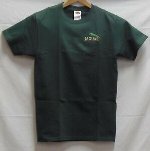 JAGUAR Racing Automotive t shirt short sleeve 100% cotton Green embroidered SM