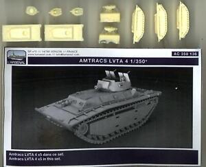 L'Arsenal Models 1/350 AMTRAC LVTA-4 AMPHIBIOUS VEHICLE (5) Resin Set