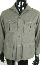 Vintage 40's 50's Woolrich Woolen Mills Green Button Front Jacket Coat Men's L