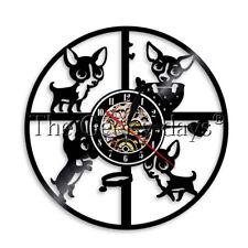 Chihuahua Dog Wall Clock Pug Pet Puppy Vinyl Record Wall Clock Dog Lover Gift