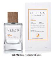 Clean Reserve Solar Bloom 3.4 oz / 100 ml Eau De Parfum EDP Spray, NEW, SEALED