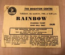 RAINBOW TICKET STUB - 4th March 1980 - Brighton Centre - Very Rare