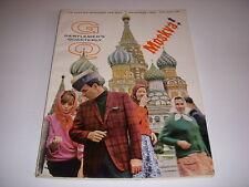 Vintage GENTLEMEN'S QUARTERLY GQ Magazine, November, 1965, MOSCOW, COSSACKS!