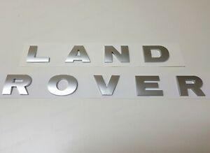 LAND ROVER MATTE SILVER 3D LETTERS HOOD OR TRUNK TAILGATE EMBLEM BADGE NAMEPLATE