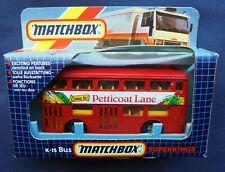 Matchbox Superkings K-15 London Bus - Petticoat Lane - Londoner DMS Fleetline