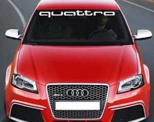 Sticker Quattro for Audi sticker decal RS S line S3 S4 S5 S6 S7 S8 TT RS Q5 Q7