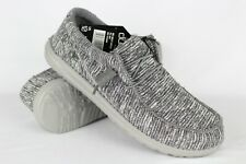 Hey Dude Men's Wally L Stretch Slip On Loafers Size 10 Grey