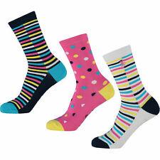 Original Penguin 3 Pack Women's Multicoloured Striped & Polka Dot Socks Size 4-8